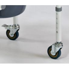 Санитарный стул Мега-Оптим FS 813 (на 4-х колесах)