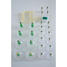 Банки для вакуумного массажа с магнитами (JK-5A) 24 шт. в упаковке